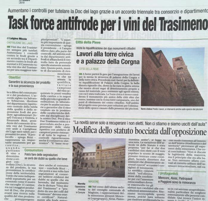 Task force antifrode per i vini del Trasimeno